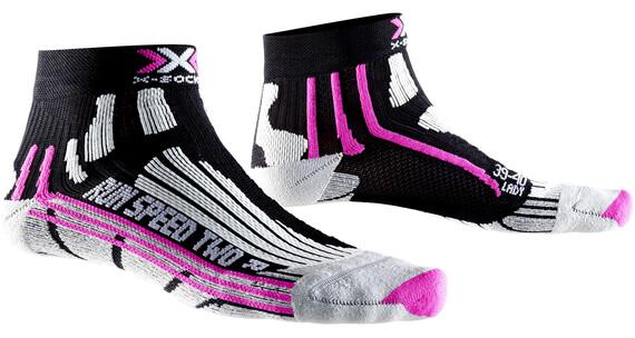 X-Socks Run Speed Two Socks Women Black/Fuchsia